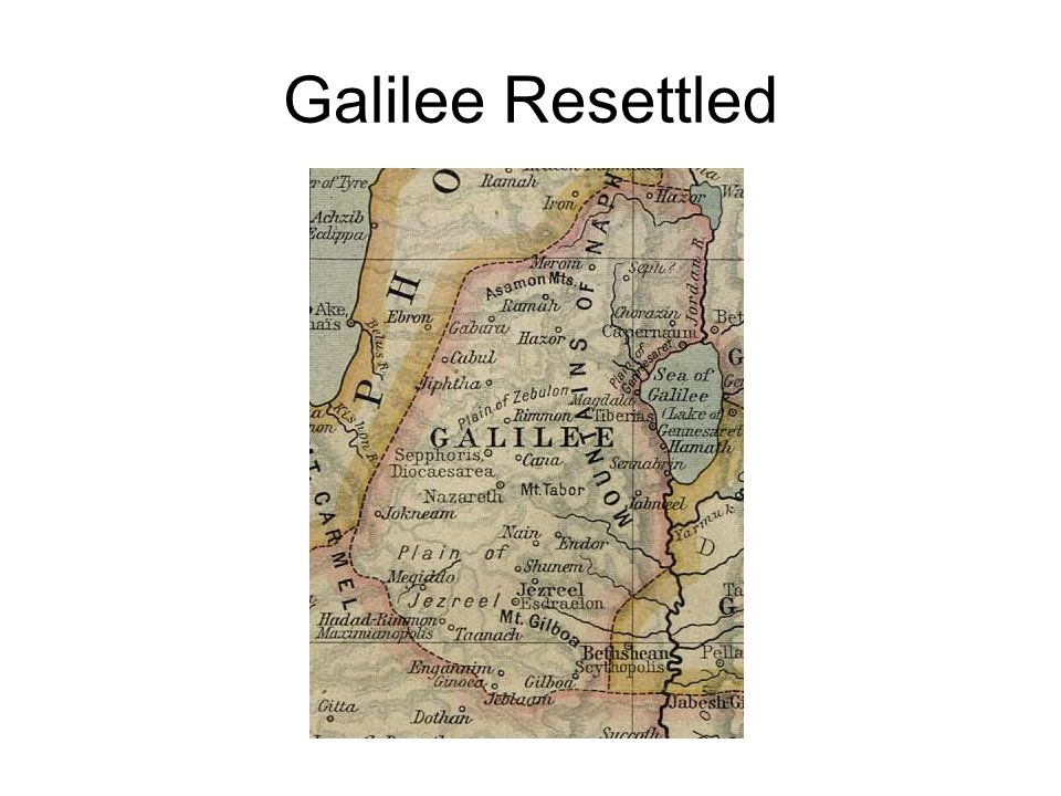 Galilee Resettled