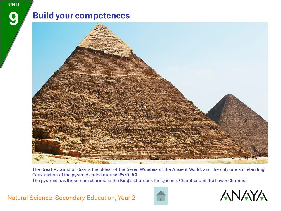 UNIT 9 Natural Science. Secondary Education, Year 2 Build your competences The Colossus of Rhodes was a very large statue built by Chares of Lindos on