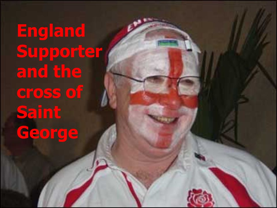 England Supporter and the cross of Saint George