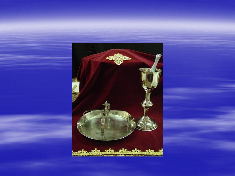  In it, the Blood of Christ is administered to the communicants.