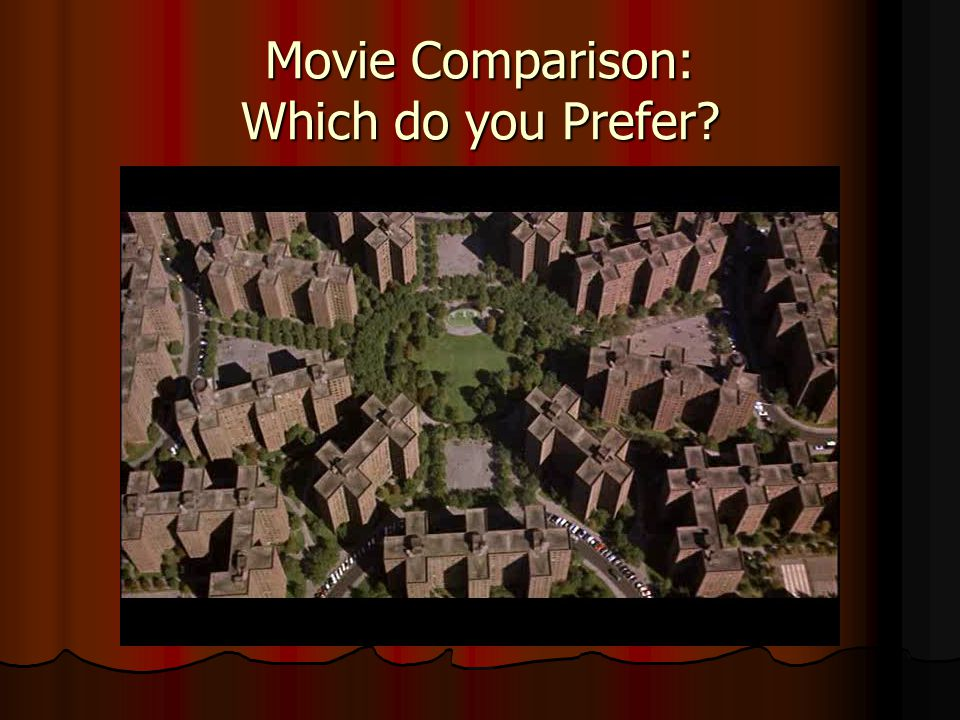 Movie Comparison: Which do you Prefer