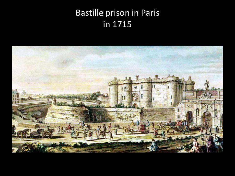 Bastille prison in Paris in 1715