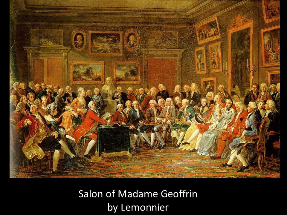 Salon of Madame Geoffrin by Lemonnier