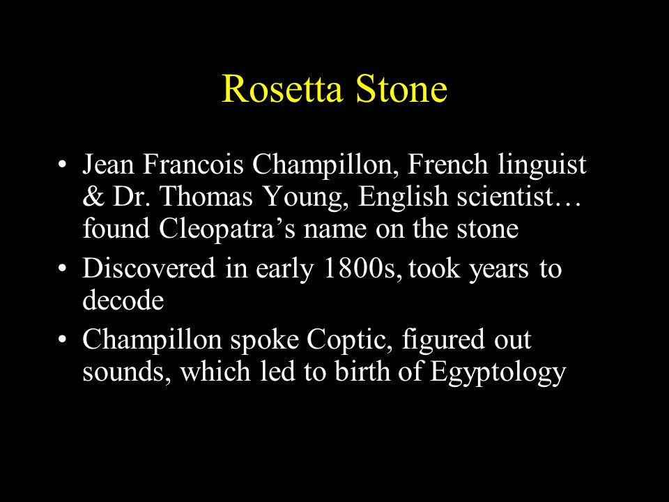 Rosetta Stone Jean Francois Champillon, French linguist & Dr.