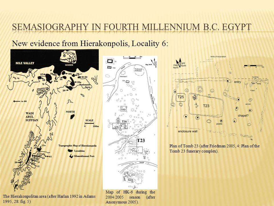New evidence from Hierakonpolis, Locality 6: Plan of Tomb 23 (after Friedman 2005, 4: Plan of the Tomb 23 funerary complex).
