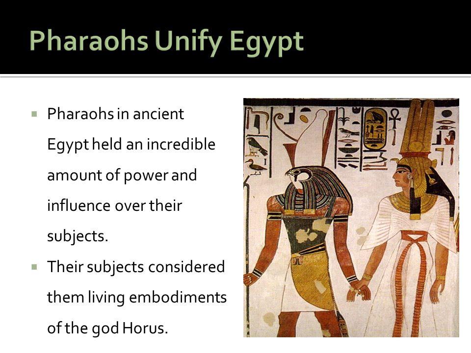 Key Term Horus- The God of the sky and of the pharaohs.