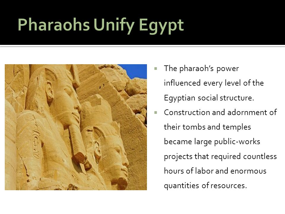  Historians today divide up Egypt's ancient times to keep track of the changes.