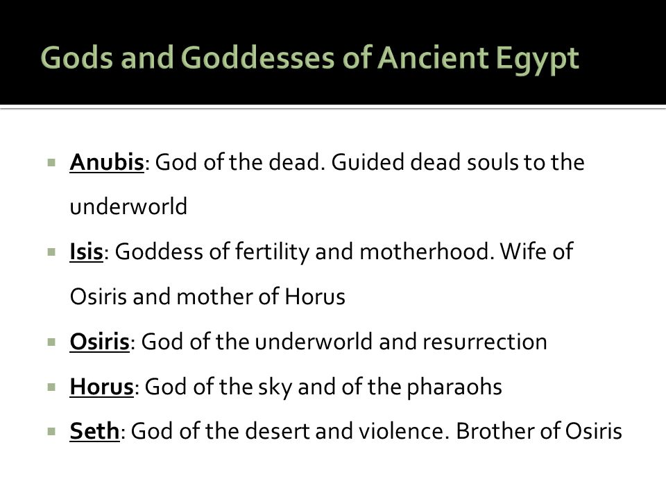  Ancient Egyptians believed in the presence of their souls.