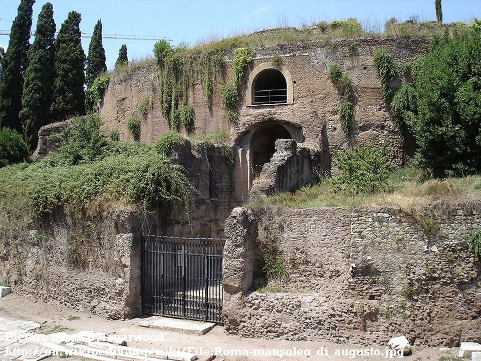 Picture taken by: ryarwood http://en.wikipedia.org/wiki/File:Roma-mausoleo_di_augusto.jpg