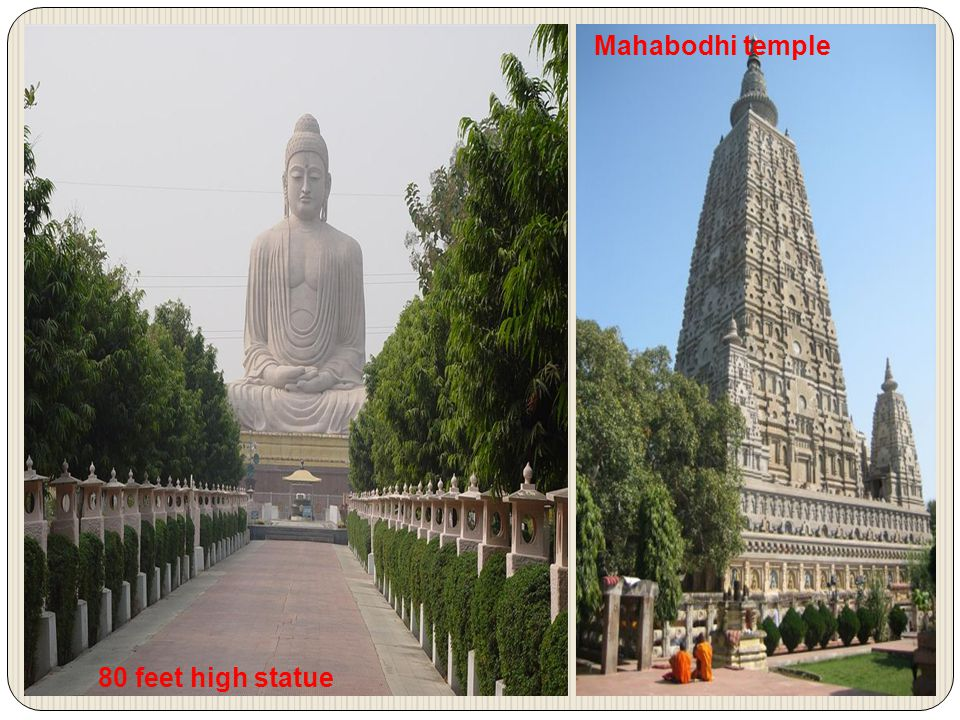 80 feet high statue Mahabodhi temple