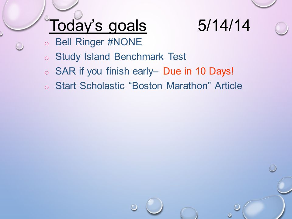 "o Bell Ringer #NONE o ""Into the Mummy's Tomb"" Quiz o SAR 15 Minutes – Due in 11 Days! o Conjunctions Exercise – Test Monday o Start Scholastic ""Boston"