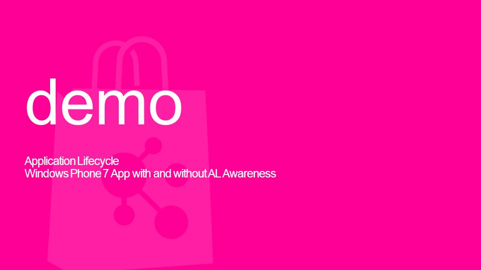 demo Application Lifecycle Windows Phone 7 App with and without AL Awareness