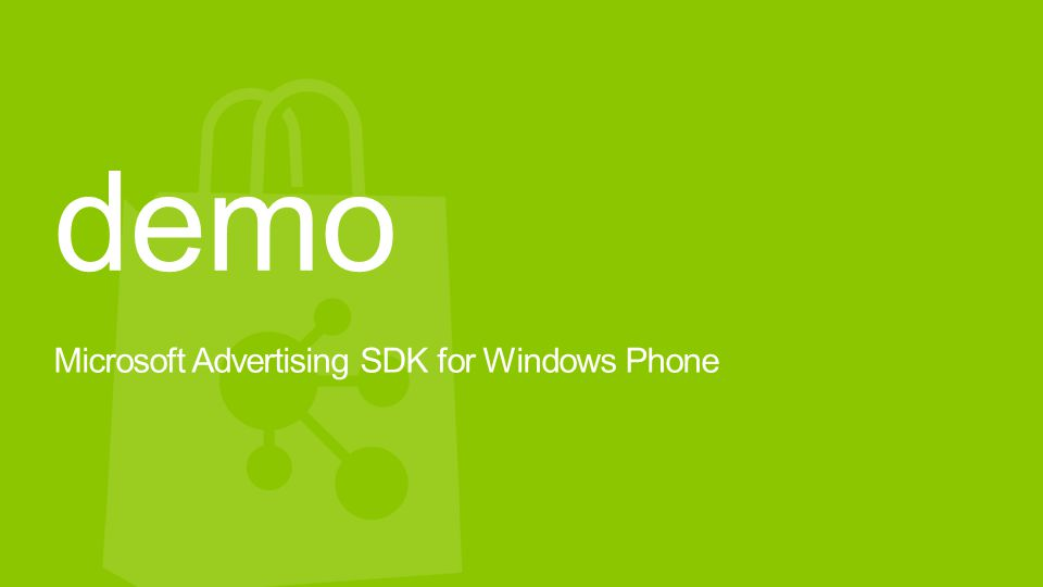 demo Microsoft Advertising SDK for Windows Phone