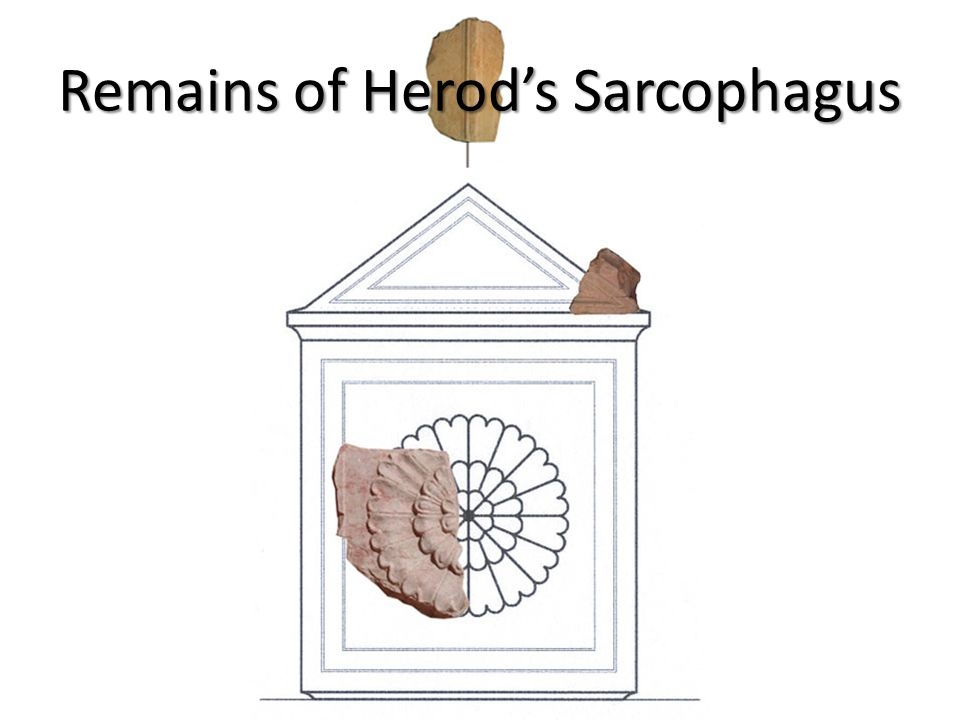 Remains of Herod's Sarcophagus