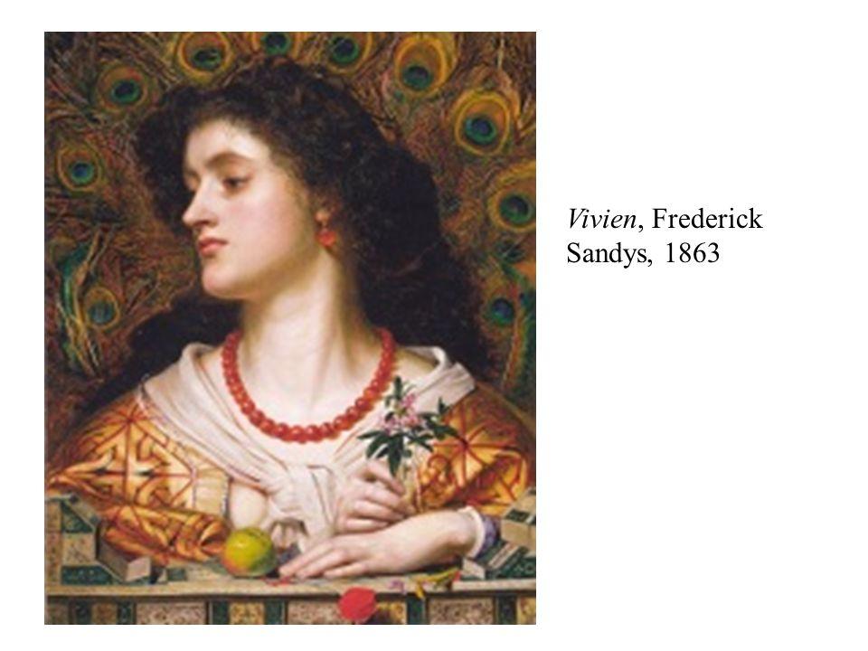 Vivien, Frederick Sandys, 1863