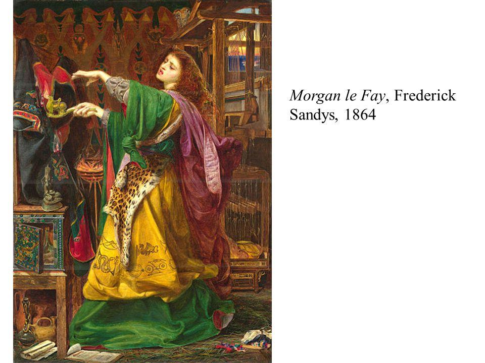 Morgan le Fay, Frederick Sandys, 1864