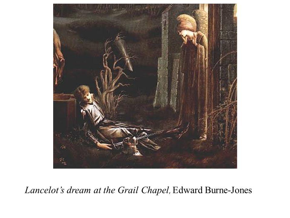 Lancelot's dream at the Grail Chapel, Edward Burne-Jones