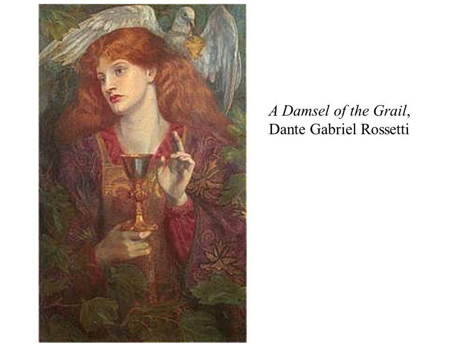 A Damsel of the Grail, Dante Gabriel Rossetti