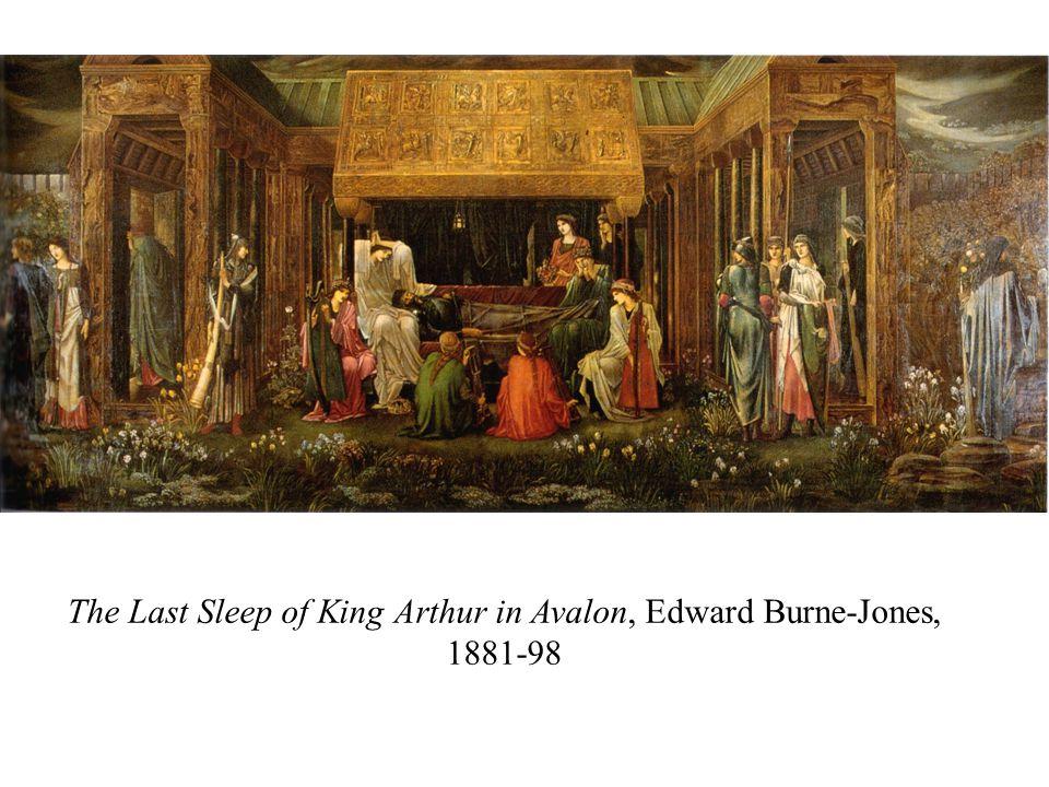 The Last Sleep of King Arthur in Avalon, Edward Burne-Jones, 1881-98