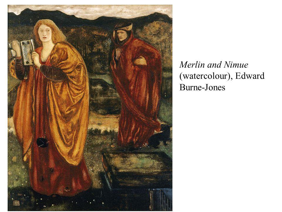 Merlin and Nimue (watercolour), Edward Burne-Jones