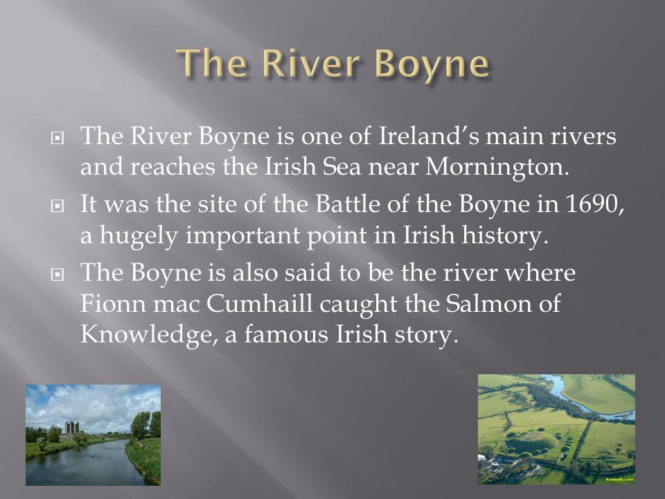  The River Boyne is one of Ireland's main rivers and reaches the Irish Sea near Mornington.