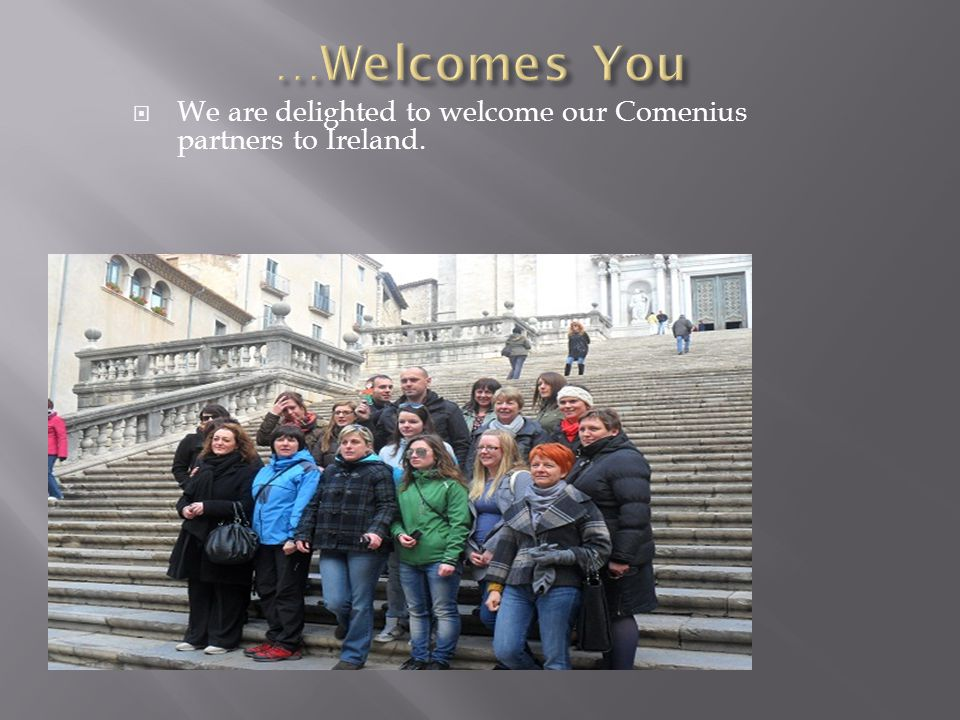  We are delighted to welcome our Comenius partners to Ireland.