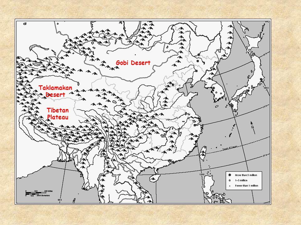 Tibetan Plateau Taklamakan Desert Gobi Desert