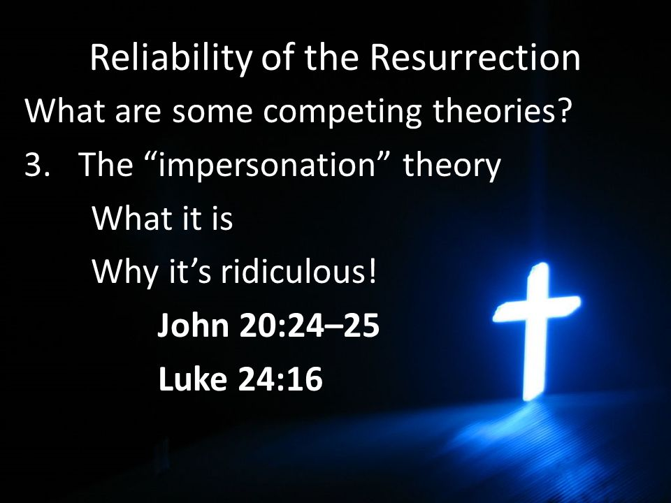 Reliability of the Resurrection What are some competing theories.