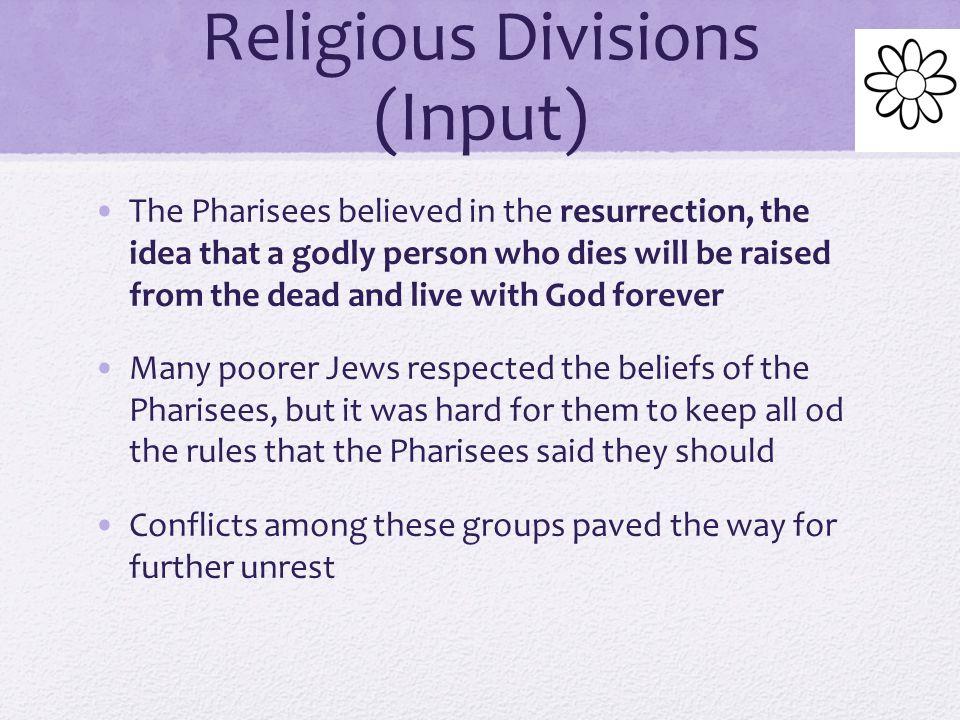 Religious Divisions (Input)