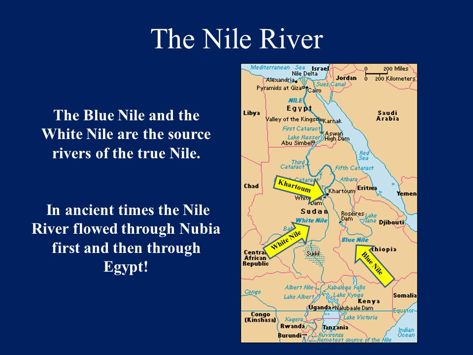 The Nile River The Nile's current flows from South to North!