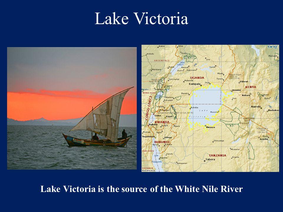 Lake Victoria Lake Victoria is the source of the White Nile River