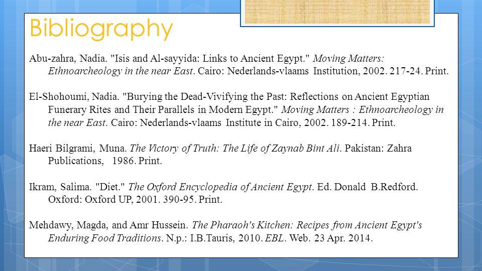 Bibliography Abu-zahra, Nadia.