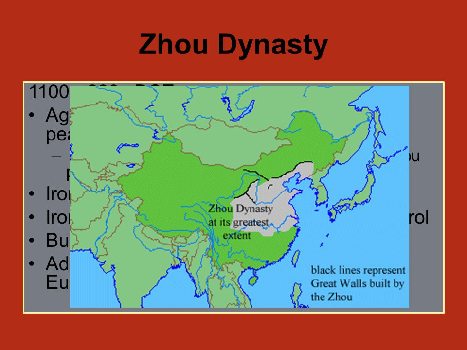 Mandate of Heaven Last Shang king considered corrupt and a fool Overthrown by a Zhou overlord Justification for rule = mandate of heaven If the ruler does not rule well, he will lose this mandate and will be overthrown