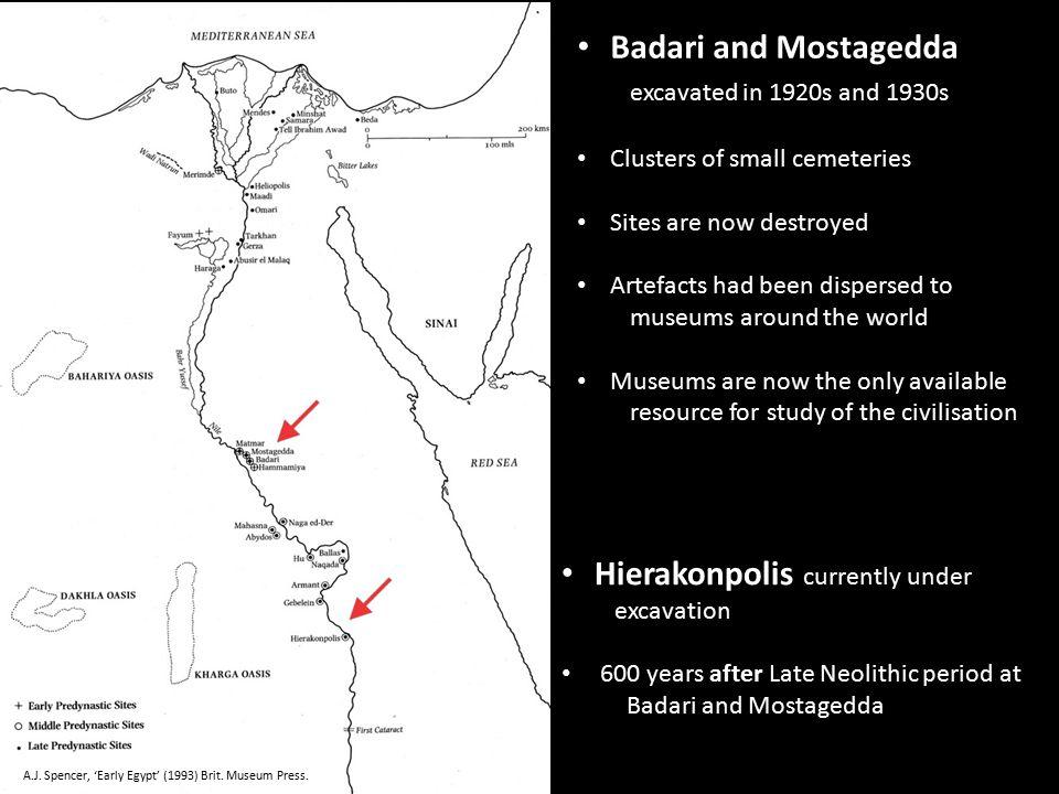 Mostagedda, c.4500 - 4000 BC Late Neolithic burials Mostagedda c.