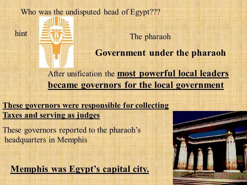 Did the Egyptians worship the Pharaoh? Yes and he was considered a God The Pharaoh owned everything in Egypt and this put him at the center of the eco