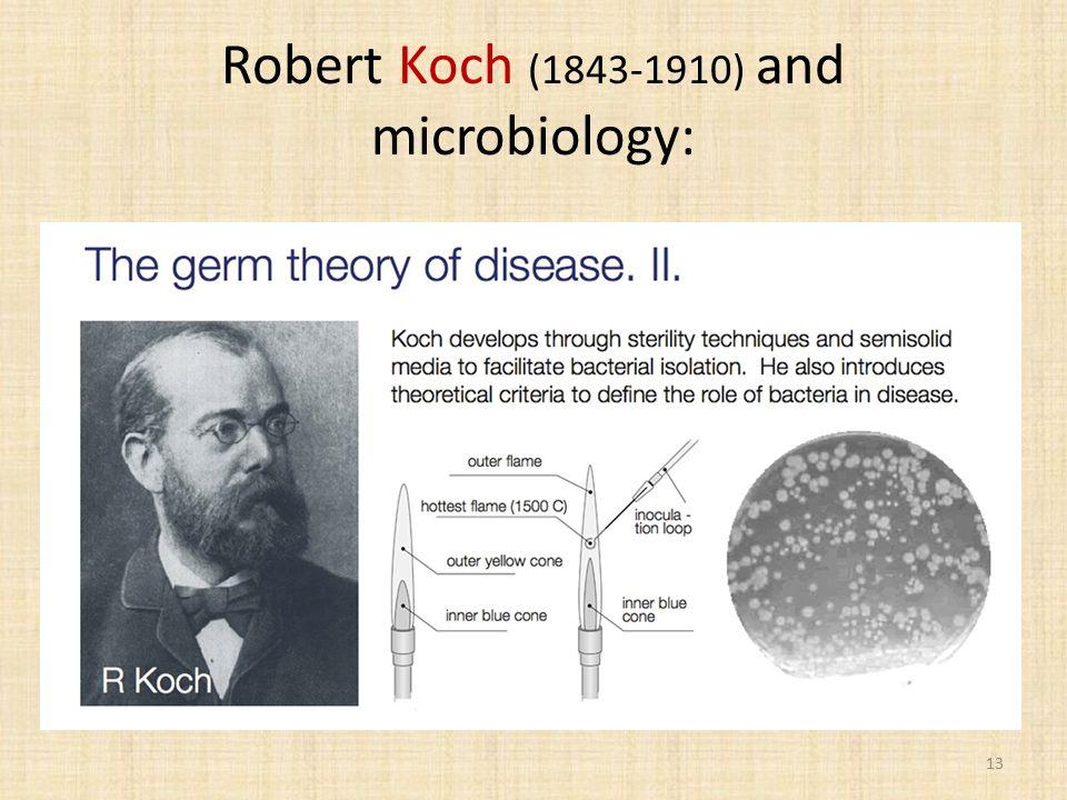 Robert Koch (1843-1910) and microbiology: 13