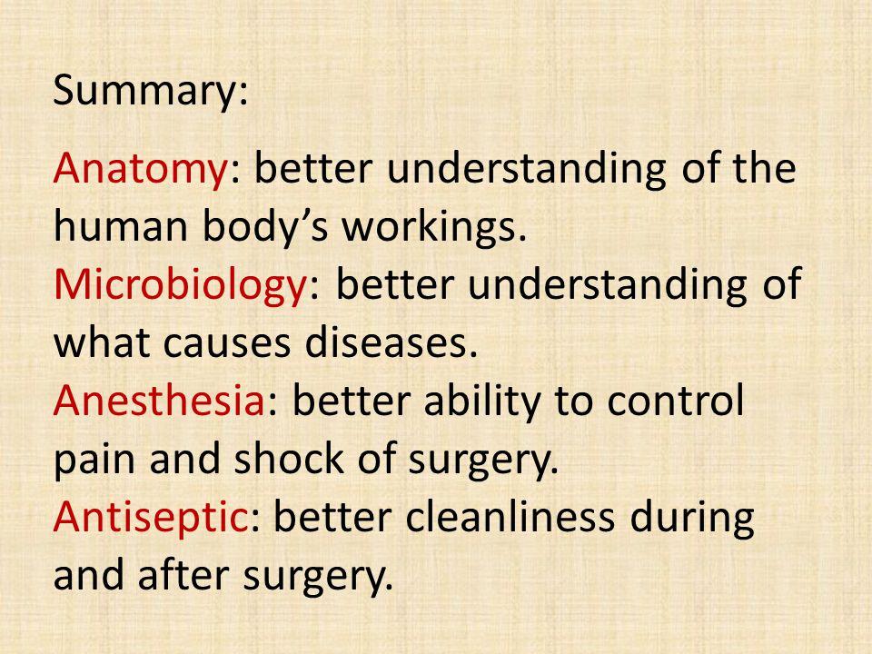 Summary: Anatomy: better understanding of the human body's workings.