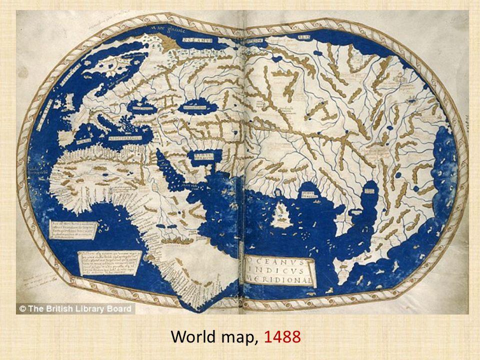 World map, 1488