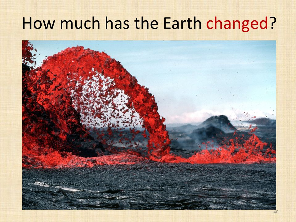 How much has the Earth changed 40
