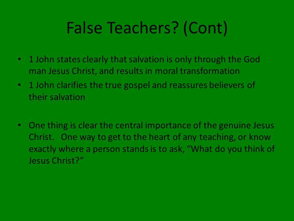 False Teachers.