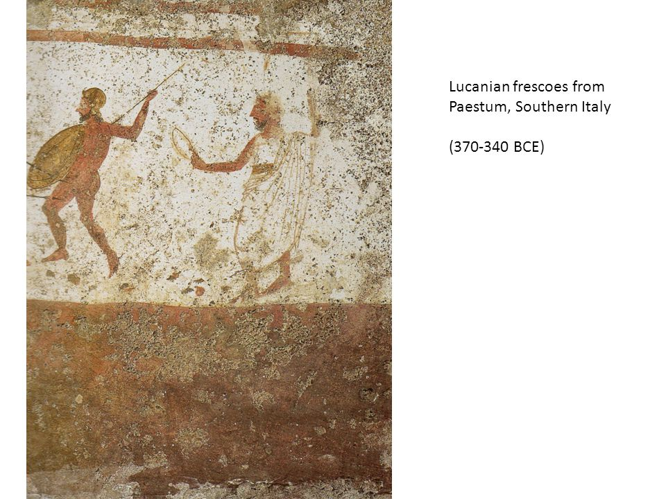 Lucanian frescoes from Paestum, Southern Italy (370-340 BCE)