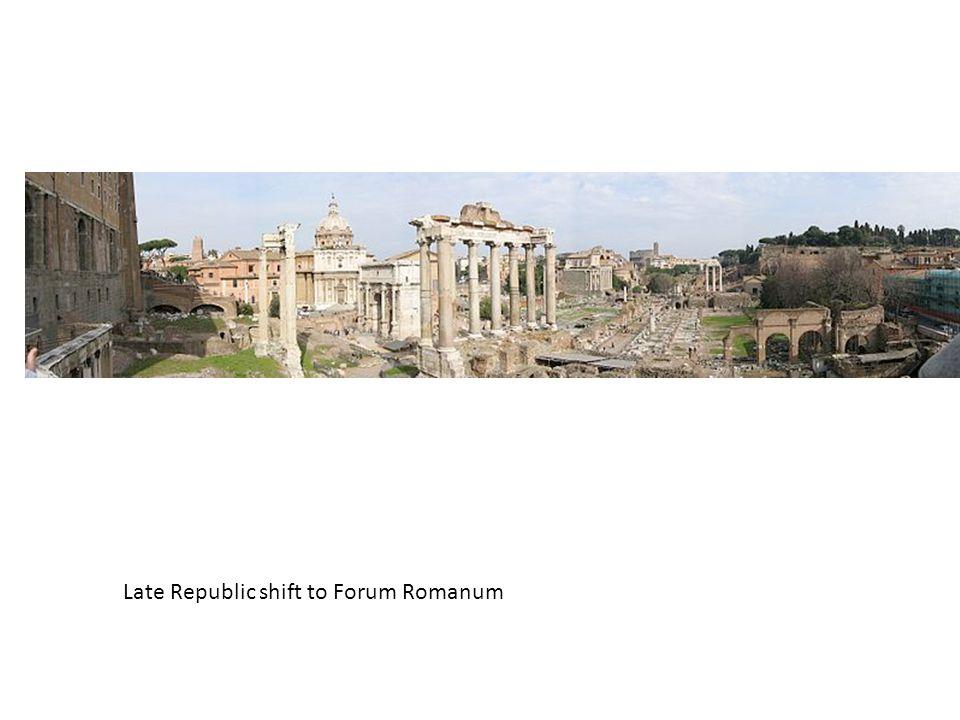 Late Republic shift to Forum Romanum