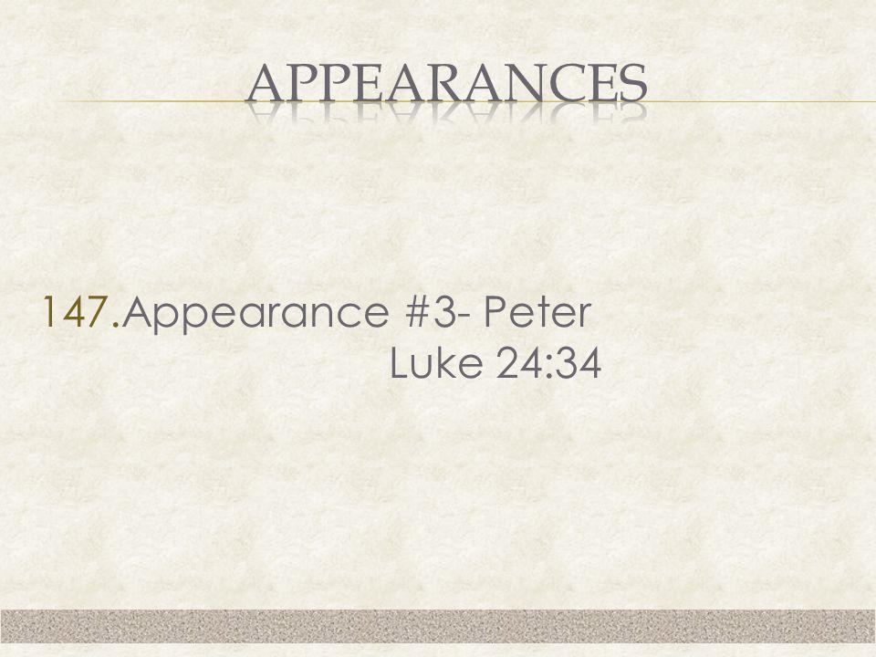 147.Appearance #3- Peter Luke 24:34