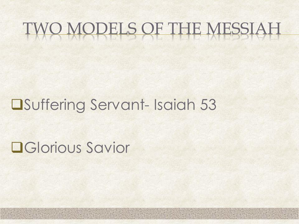  Suffering Servant- Isaiah 53  Glorious Savior