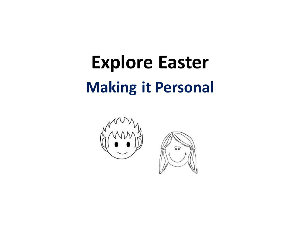 Explore Easter Making it Personal