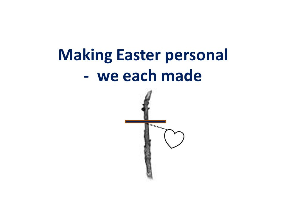Making Easter personal - we each made