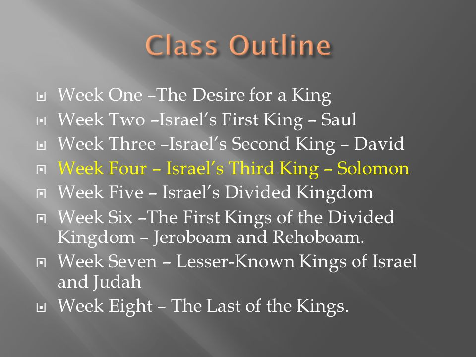  Israel told Samuel they wanted a king  God gave Israel what they desired, but with warning.