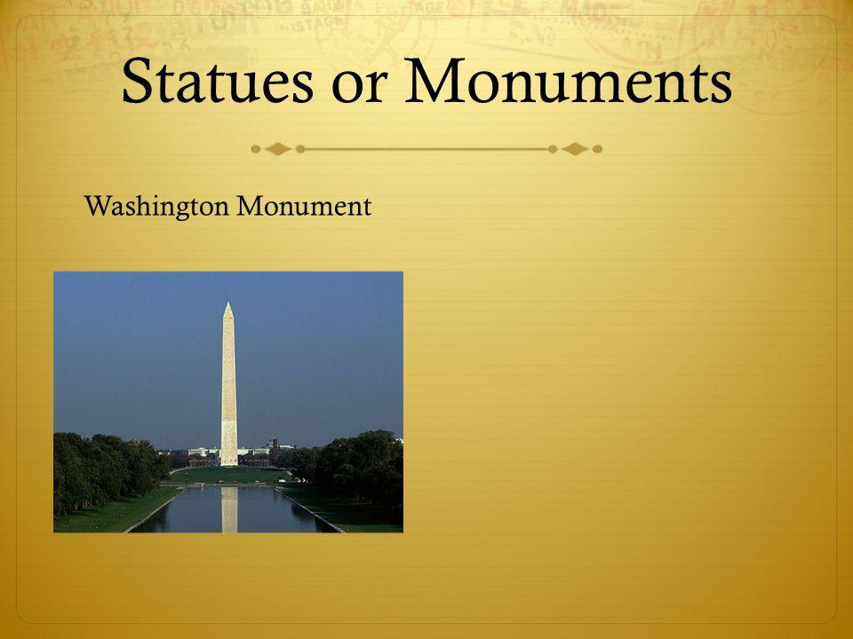 Statues or Monuments Washington Monument