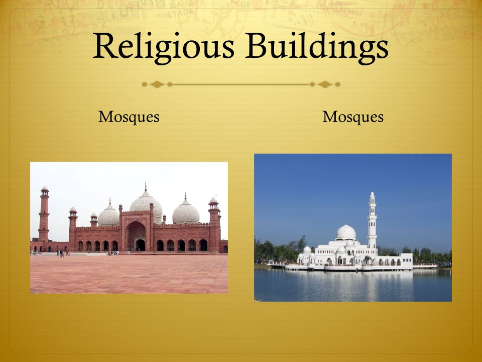 Religious Buildings Mosques