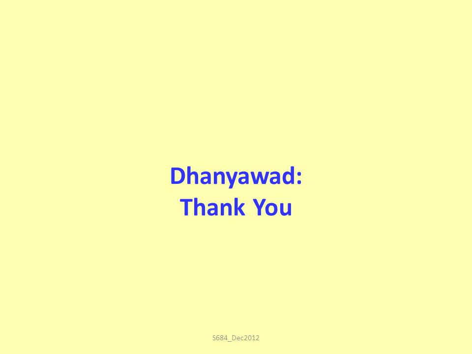 Dhanyawad: Thank You S684_Dec2012